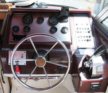 Custom Made Brushed Aluminum Boat Dash