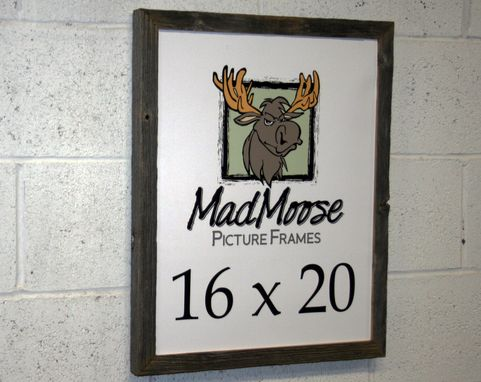 Custom Made Barn Wood Picture Frame Classic 1.25""