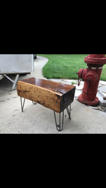 Custom Made Sold.... Black Walnut Rough Sawn Slab Coffee/End Table