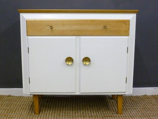 Hand Crafted Mid Century Temple Stuart Maple Cabinet By Retrocraft Design Custommade Com