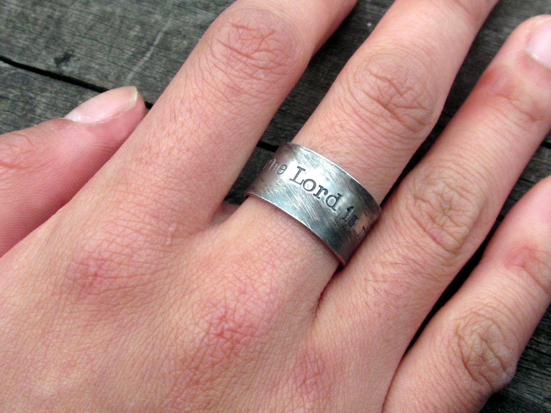 Custom Psalm 23 Shepherd Ring by donnaodesigns | CustomMade.com