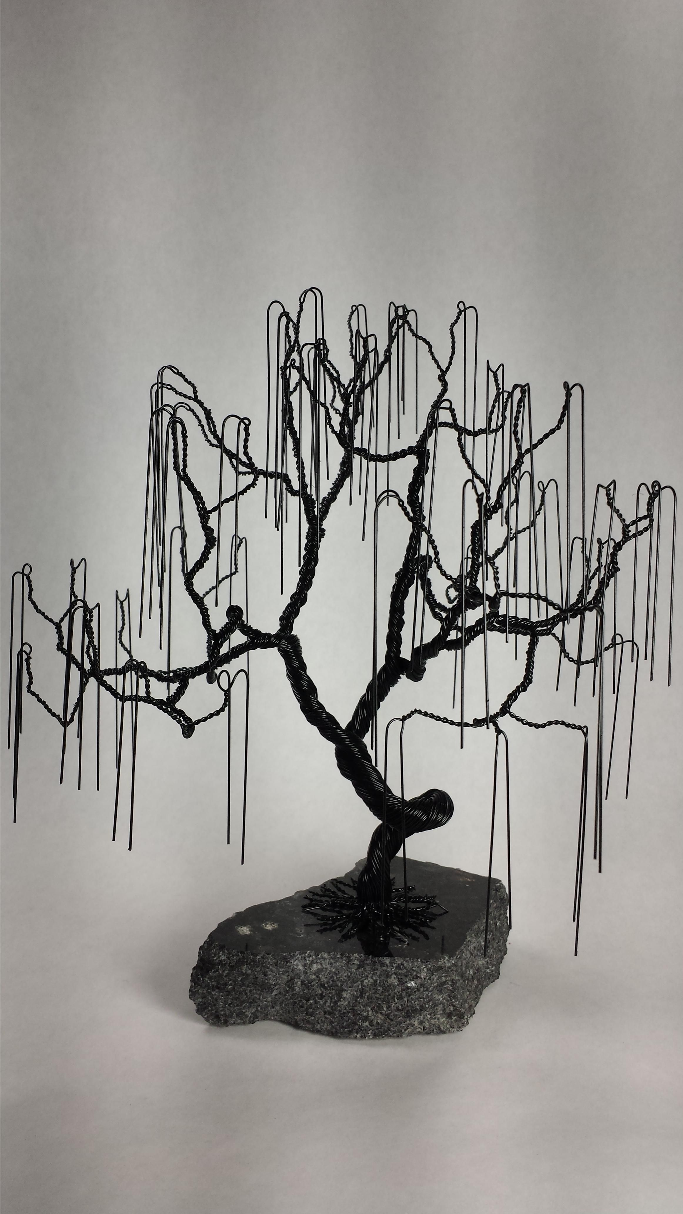 Buy Custom Small Weeping Willow Wire Bonsai Tree Sculpture Made To Order From Golomb Art Custommade Com