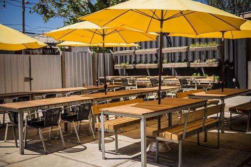 Custom Made Restaurant Outdoor Patio Tables And Benches