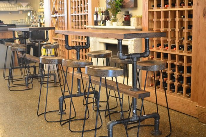 Buy A Hand Crafted Industrial Farmhouse Bar Table For