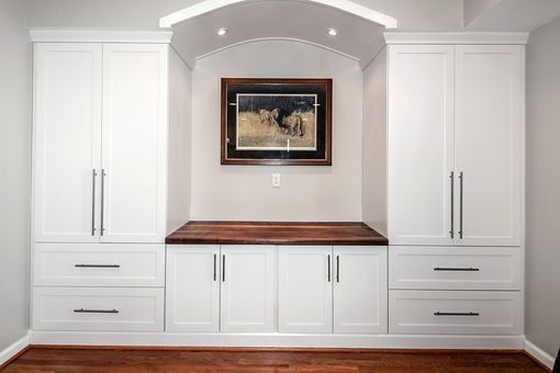 Custom Made Built-In Counter Top & Wall Unit
