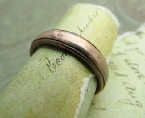 Custom Made Rustic Men S Wedding Band In Rose Gold By
