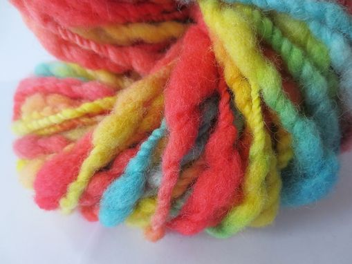 Custom Made Handspun Yarn / Hand Spun Hand Dyed Yarn / Variegated Yarn / Groovy Art Yarn / Handspun Wool Yarn
