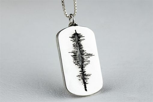 Custom Made Sound Wave Necklace