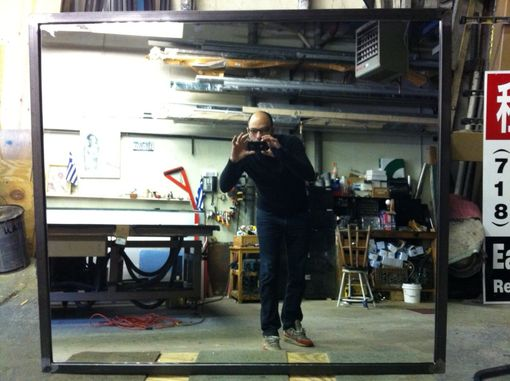 Custom Made Steel Framed Mirror