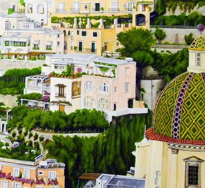 Custom Made Positano Italy Fine Art Mural
