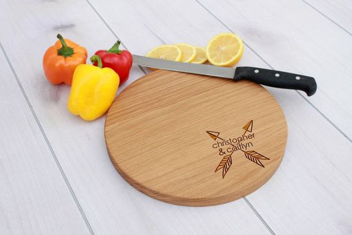Custom Made Personalized Cutting Board, Engraved Cutting Board, Custom Wedding Gift – Cbr-Wo-Christopher Caitlyn