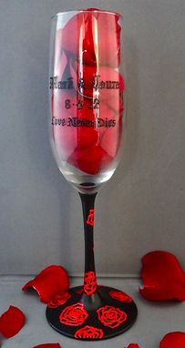 Custom Made Gothic Wedding Champagne Flutes