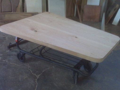 Custom Made Shopping Cart Coffee Table