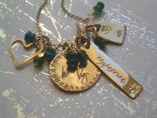 Custom Made Charm Necklace With Gold Clusters