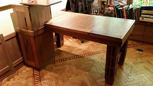 Custom Made Office Mahogany Desk With Extention