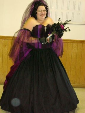 Custom Made Goth Wedding Gown
