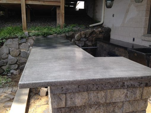 Custom Made Concrete Bar Top