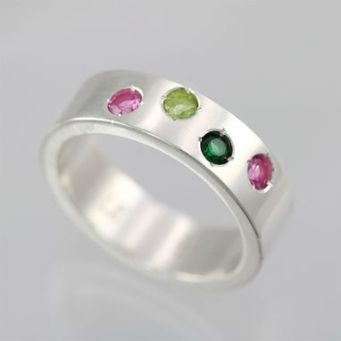 Custom Made 4 Stone Mother Ring In Sterling Silver