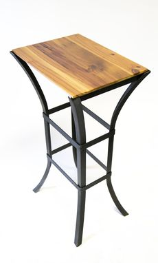 Custom Made Wood And Iron Stool