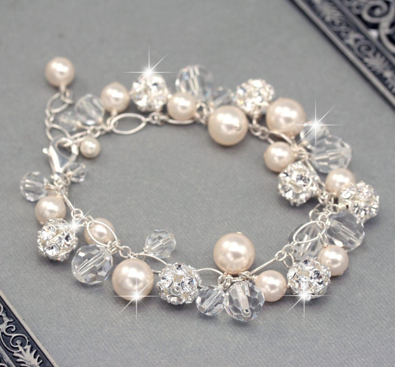 Swarovski Charm Bracelet: Buy Hand Crafted Bridal Bracelet