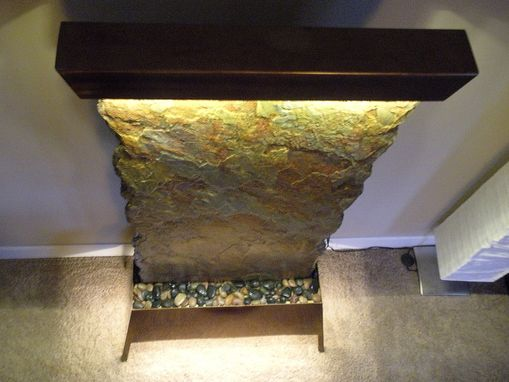 Custom Made Brazilian Slate Floor Standing Waterfall