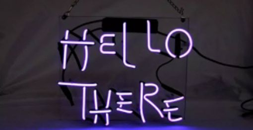 Custom Made Hello There Neon Sign