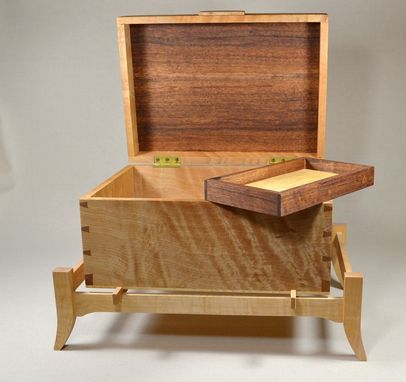 Custom Made Curly Maple And Hawaiian Koa Box