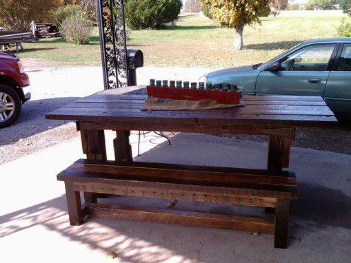 Custom Made Rustic Barn Wood Harvest Table