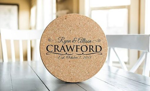 Custom Made Personalized Jumbo Cork Trivets