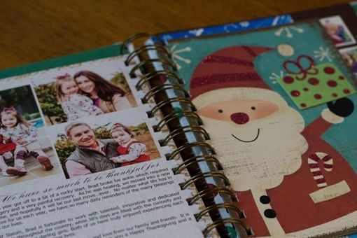 Custom Made Handmade Wire-Bound Holiday Card Keepsake Album