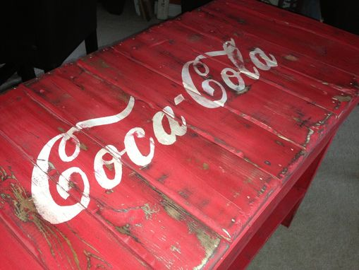 Custom Made Coca Cola Table