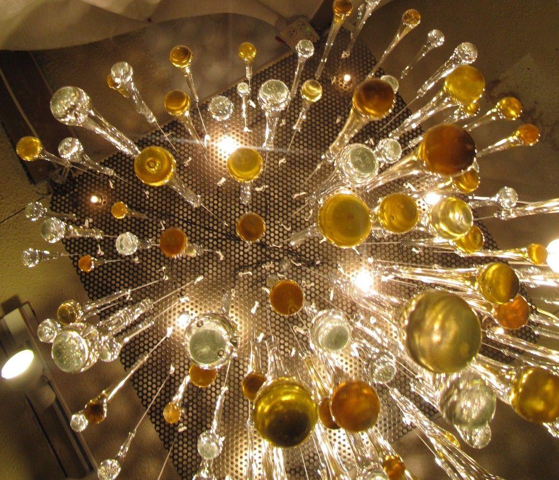 Hand Crafted Pioggia Rain Large Chandelier By Illuminata