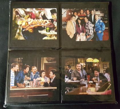 Custom Made Cheers Ceramic Tile Coaster Set