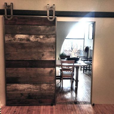 Custom Made Sliding Barn Door With Steel Hardware