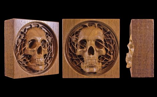 Custom Made Steam Punk Skull Carving