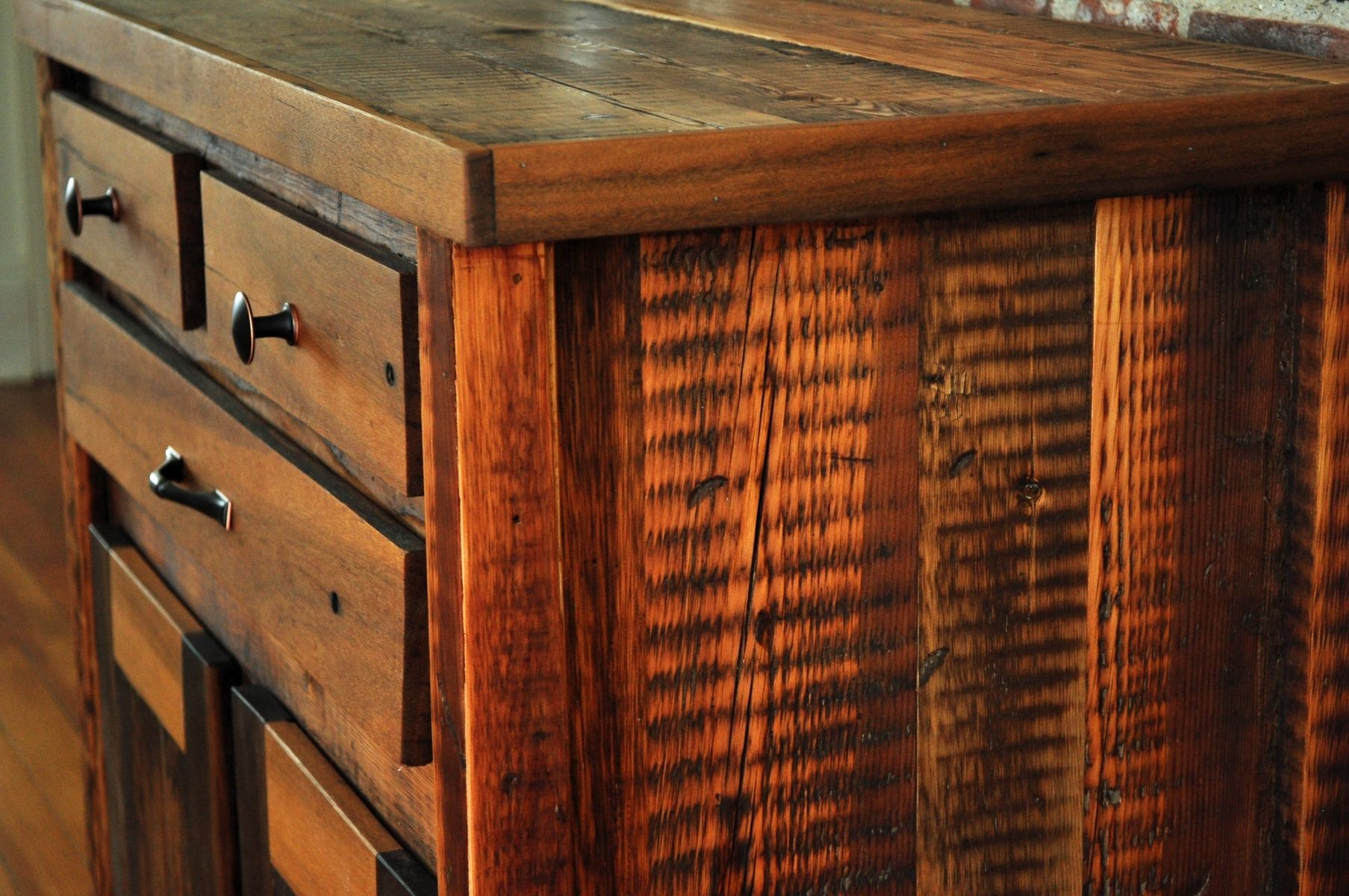 Mission Foyer Cabinet : Custom reclaimed wood foyer cabinet by brian pia designs
