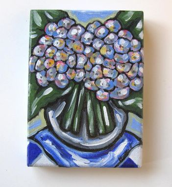 Custom Made Hydrangea Still Life Painting Original Acrylic On Canvas