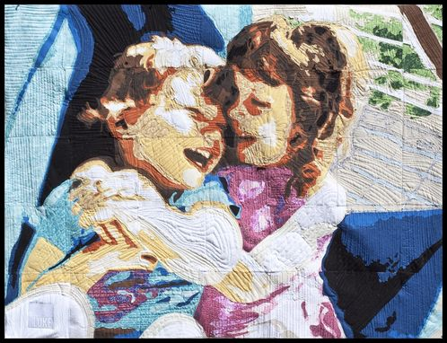 Custom Made Quilt Portrait Of Your Family