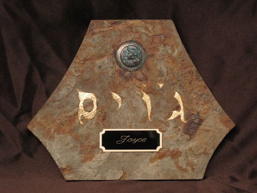 Custom Made Biblical Name Tablet.