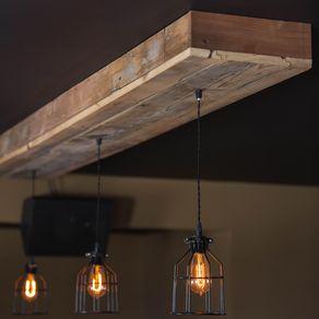 Buy A Custom Reclaimed Barn Beam Light Fixture Bar