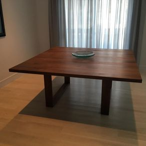 square modern dining table - Square Wood Dining Table