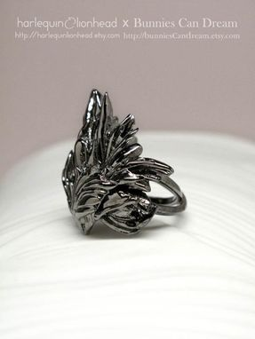 Custom Made Whirls Collection - No. 2 Ring Black Gold Plated