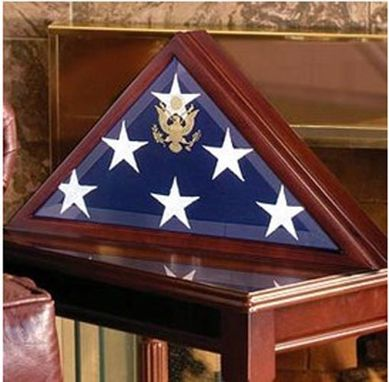 Custom Made Veteran Flag Display Case, Veteran Flag Display Box