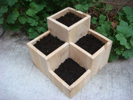 "Custom Made Planter:  ""Jewel"".  12 X 12 X 12 Inch.  Cedar."