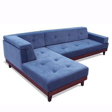 Custom Made Modern Platform Sofa With Chaise