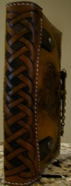 Custom Made Hand Tooled Leather Bible/Journal Cover