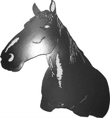 Custom Made Horse Head Metal Wall Art