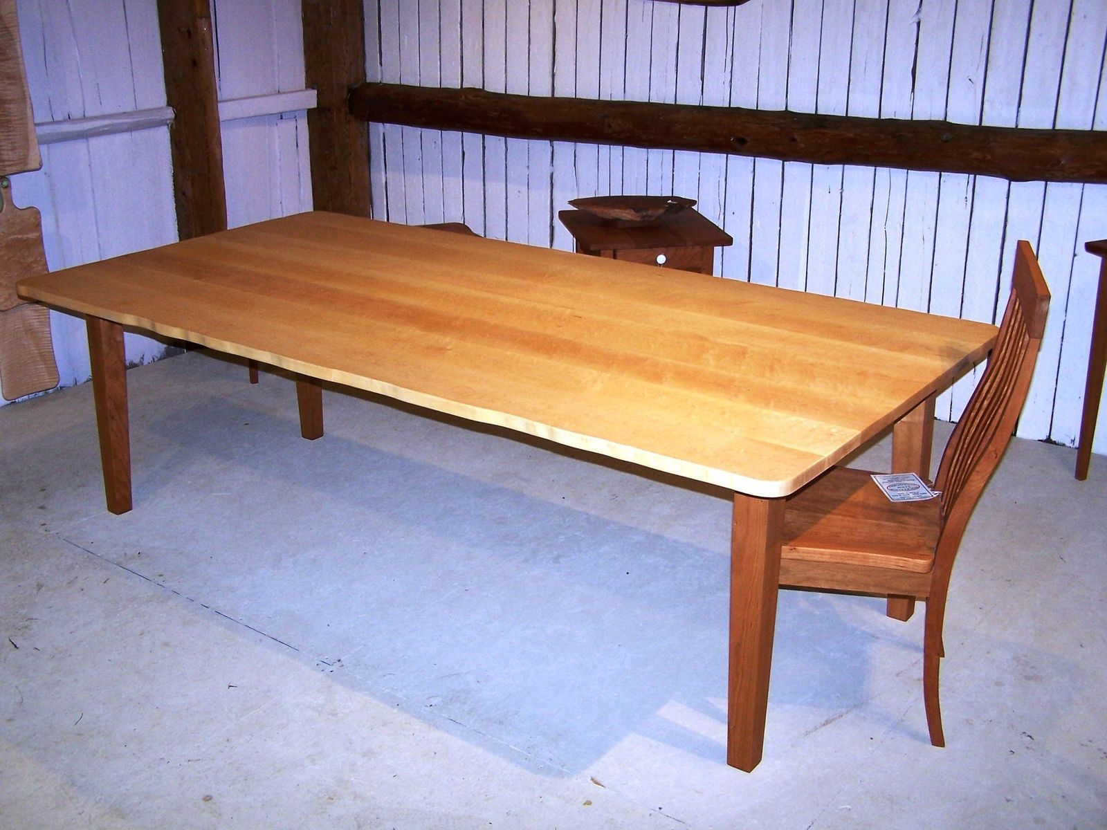 "Hand Crafted ""Live Edge"" Birdseye Maple Dining Table by Rockledge ..."