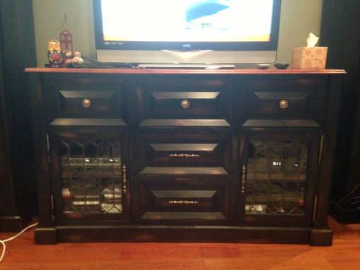 Custom Made Bookshelves And Entertainment Stand