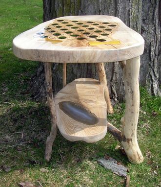 Custom Made Ash Chess Table